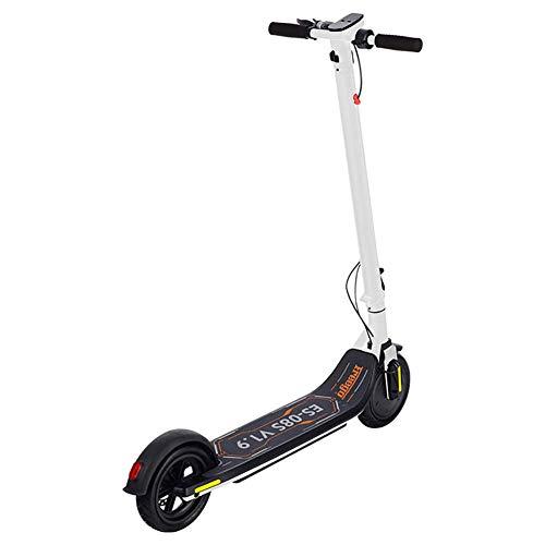 BSJZ Scooter eléctrico portátil Plegable de Dos Ruedas, Coche de aleación de...