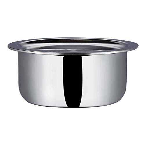 Vinod Platinum Triply Stainless Steel Tope with Lid 16 cm- 1.7 L
