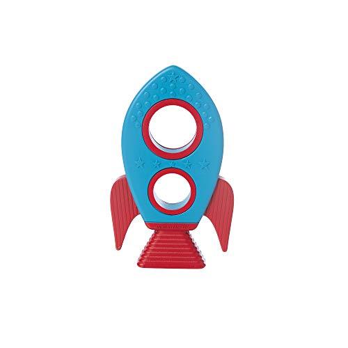 Manhattan Toy 217290 Rocket - Mordedor de silicona, multicolor