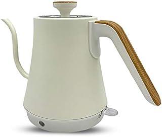 電気ケトル ケトル グースネックケトル 電気ポット 1.0L 自動湯沸かし器 空焚き防止機能 (ウッド)