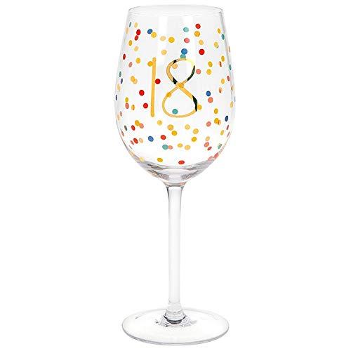 Copa de vino de 18 cumpleaños en caja de regalo