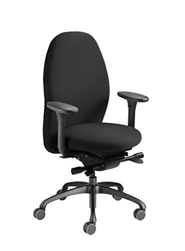 Löffler Tango Bürostuhl 2350 ergonomischer Drehstuhl mit 3D-Sitztechnologie in Schwarz