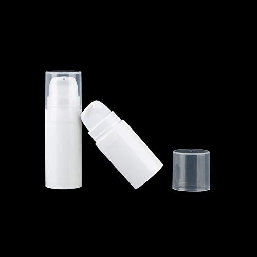 JIHUOO 8 Stück Leer Airless Vakuum Pumpflasche Pumpspender Cremespender Lotionspender Reiseflasche Kosmetik Aufbewahrungsbehälter 10ml