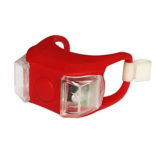 FSHB 1pc Fahrrad Fahrradleuchte LED Rücklicht Wasserdichtes Rücklicht Sicherheitswarnung Fahrradleuchte USB Wiederaufladbar 4 Modi Lampe, Frosch 02