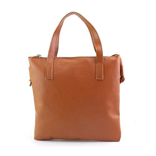 Bolso de piel auténtica para mujer, organizador de hombro, asas superiores cruzadas, bolso de diseñador marrón (entrega dentro de 7 – 12 días)
