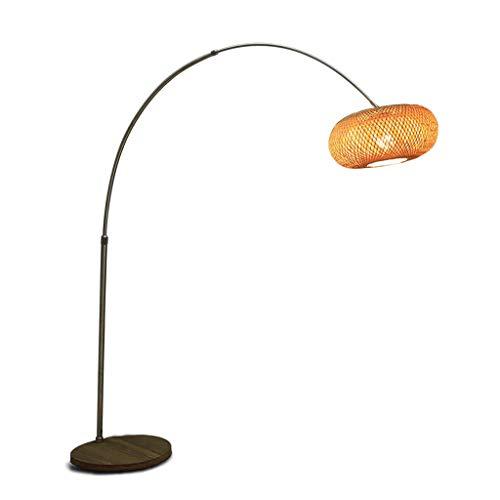 Lámparas de pie Iluminación de interior Lámpara de pie de pesca Zen chino Sala de estar japonesa Casa de té Lámpara de pie Led Lámpara de pie Arco Lámpara de pie Madera Sombra Lamparas Lámparas de pie