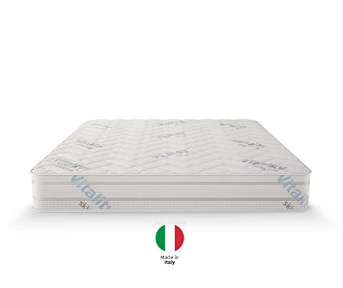 Isleep Eine mittelharte doppelseitige Matratze Vital Care 23cm. Kern aus hochelastischen Schaumstoff mit orthopädischen Eigenschaften DAR. (140 x 200 cm)