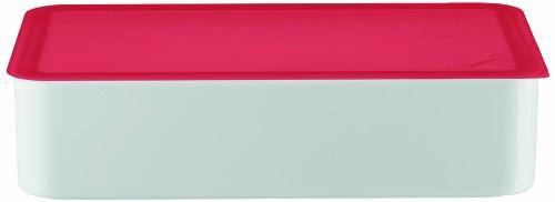 Arzberg-Porzellan 3330/09998/3925 Boîte de conservation avec couvercle en plastique Rouge 15 x 25 cm