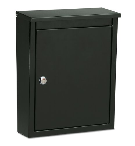 Architectural Mailboxes 2580B-10 Chelsea Locking Wall Mount Mailbox, Medium, Black