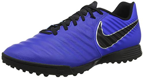 Nike Legend 7 Academy TF, Zapatillas de Fútbol Unisex Adulto, Multicolor (Racer Blue/Black/Metallic Silver 400), 41 EU