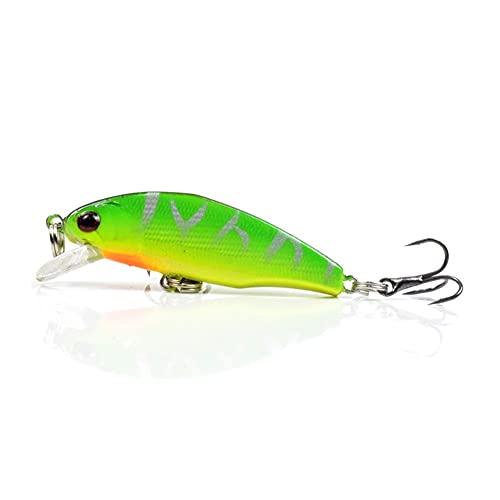 KKAAMYND 50mm 3.5g Hundiendo Mini Crankbait Minnow 3D Ojos biónicos Fuertes de Pesca de Wobbler para Pike Bass Perse en Agua Dulce y Agua Salada (Color : CC36 02)