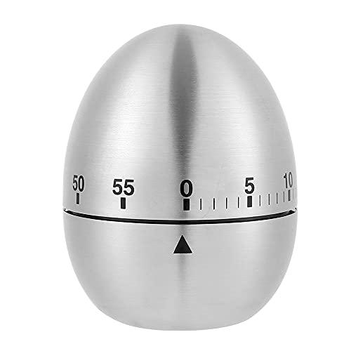 Kurzzeitmesser, Kurzzeitwecker Mechanischer Eiförmige Küchentimer, Küchenwecker aus Edelstahl, Eieruhr Küchenuhr Countdown Stoppuhr Küche Kochen Backen Haushalt Zeitmesser Stopuhr Kurzzeituhr (1pcs)