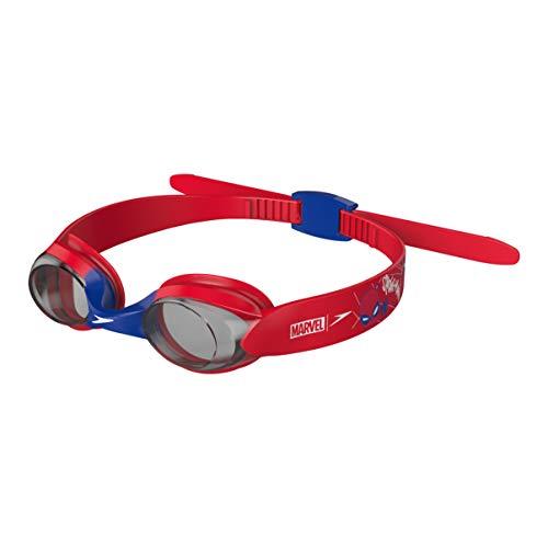 Speedo Unisex-Kinder Spiderman Illusion Schwimmbrille Swimming, Rot/Blau/Grau, Einheitsgröße