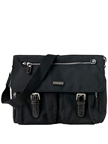 TOM TAILOR Damen Taschen & Geldbörsen Schulter-Tasche aus Nylon schwarz/black,OneSize,C060,2999