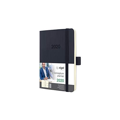 SIGEL C2023 Wochenkalender 2020, ca. A6, schwarz Softcover Conceptum - weitere Modelle