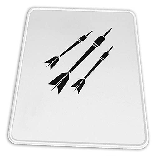 N\A Dardos Deporte Dardos Camiseta Alfombrilla de ratón Base de Goma Antideslizante para computadora de Juegos de Oficina con Borde Cosido