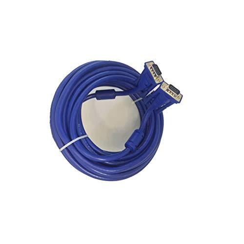 Cable VGA 20m con ferrita Conector D-Sub 1080p Full HD para Monitor...