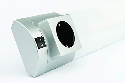 EVA - Regleta T5 8W fluorescente con interruptor y 1 enchufe shuko GER/IT CALI