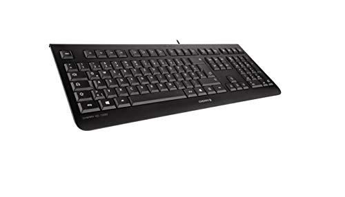 """CHERRY KC 1000 - USB Tastatur - Flaches Design - Kabelgebunden - """"der Blaue Engel"""" - GS-Zulassung - QWERTZ Business-Tastatur - Deutsches Layout - Schwarz"""