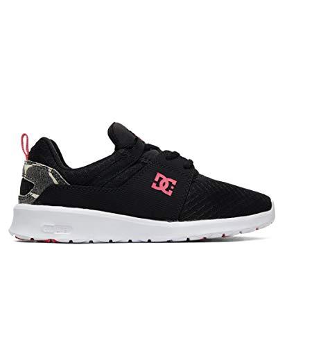 DC Women's Heathrow TX SE Skate Shoe, Black/Black/Pink, 8 M US