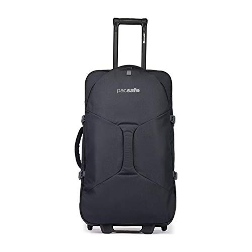 Pacsafe Venturesafe EXP29 Trolley, Rollkoffer, Leichter Koffer mit 4 Rollen, Reisetasche mit Diebstahlschutz, 83 Liter, Schwarz/Black