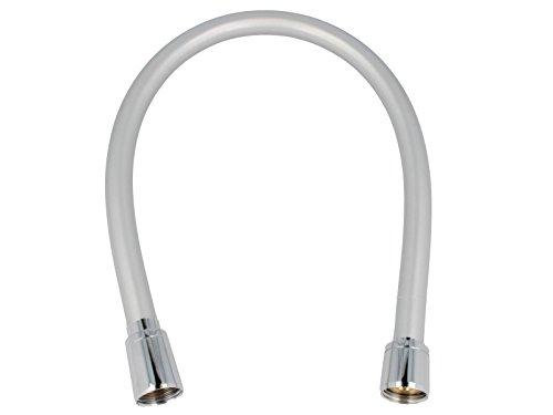 tecuro Premium 1,00m Tuyau de douche flexible de douche silberglatt avec effet perlé