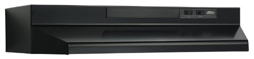 Broan-NuTone Broan F403023 Two-Speed Four-Way Convertible Range Hood, 30-Inch, Black,