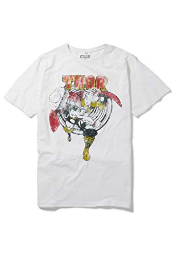 Marvel The Mighty Thor - Camiseta retro con diseño de martillo crudo de Re:Covered