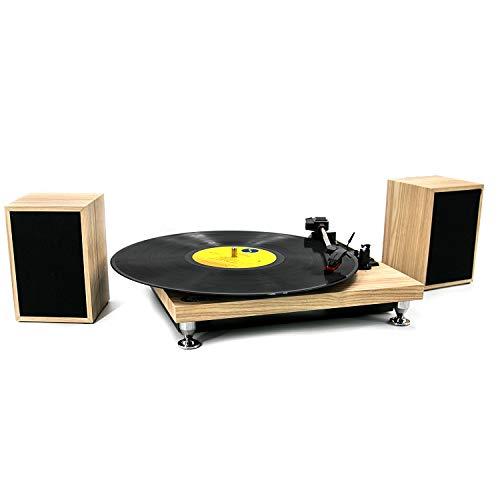Lecteur de disques, Lecteur de disques en Vinyle à 3 Vitesses 33/45/78 TR/Min, Système Hi-FI de Table tournante...