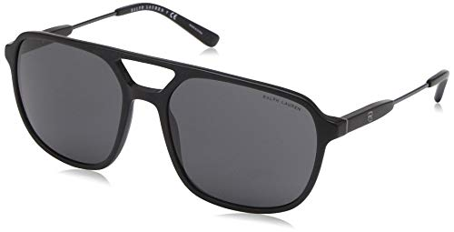 Ralph Lauren 0RL8170 Gafas de sol, Black Vintage Effect, 58 para Hombre