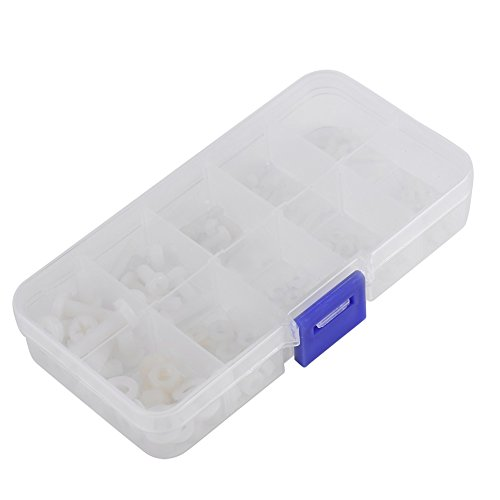 150 Stücke Befestigungen M2 M2.5 M3 M4 M5 Polyamid Schrauben Schrauben Muttern Unterlegscheiben Sortiment Kit in Box
