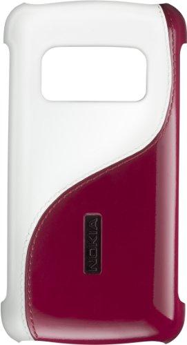 Nokia CC-3010 Cover Rigida per C6_01, White/Burgundy