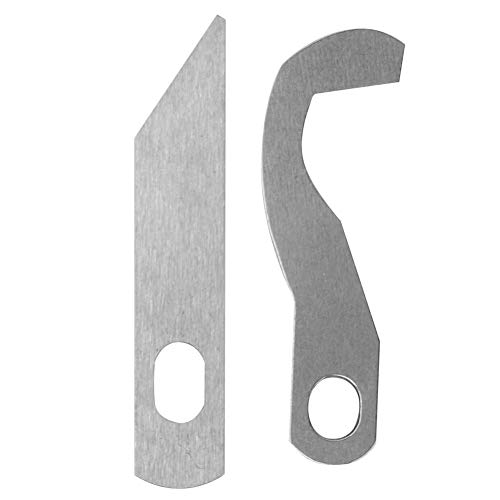 Deror Cuchillo Overlock para máquina de Coser para Brother 0304D Cuchillo Superior e Inferior XB0563001 X77683001 Metal