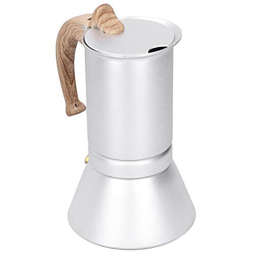 Gonnely Cafetera-300ml Cafetera de Gran Capacidad Estufa Moka Hervidor de Agua Mango de Madera para la Cocina casera
