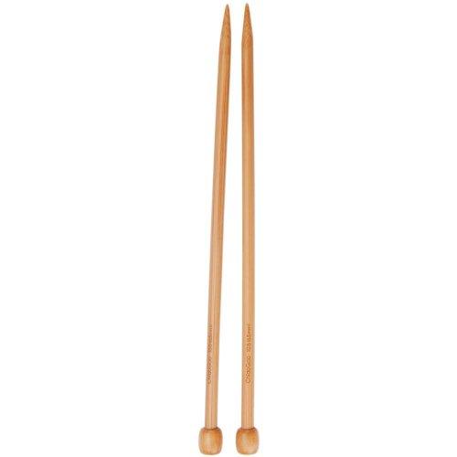 ChiaoGoo Single Point 9 inch (23cm) Bamboo Dark Patina Knitting Needle Size US 7 (4.5mm) 1031-7