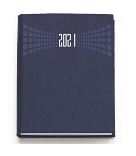 TradeShop - Agenda 2021 BIGIORNALIERA 7X10CM Tascabile Copertina Matra 2 Giorni A Pagina Blu - 30839