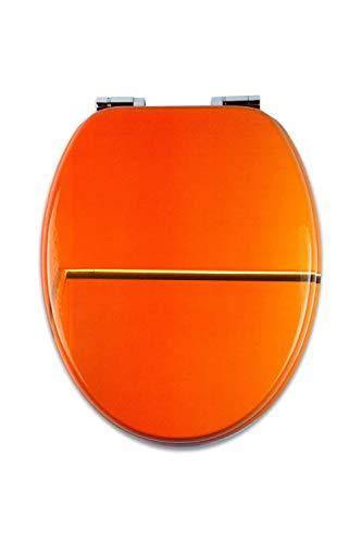 Tohaa Design - Einzigartige Auswahl an hochwertigen lackierten Holz-WC-Sitze - Modell Orsay by LMP - Zinkscharniere mit doppelter Softclose Absenkautomatik - Universalbefestigung - Aufsteckbar