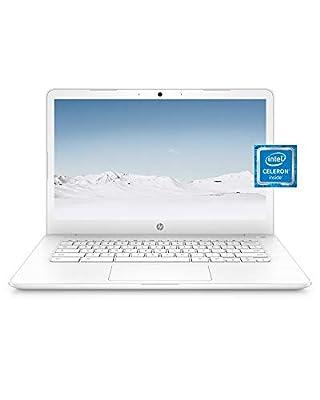 HP Chromebook 14 Laptop, Dual-core Intel Celeron Processor N3350, 4 GB RAM, 32 GB eMMC Storage, 14-inch FHD IPS Display, Google Chrome OS, Dual Speakers and Audio by B&O (14-ca051nr, 2020) by Hewlett Packard
