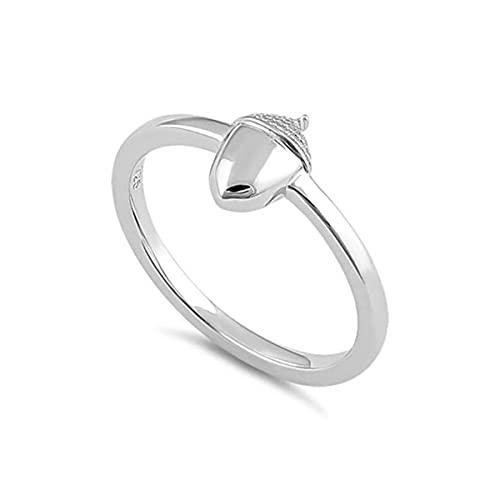 925 plata esterlina platino plateado abstracto Wriggle Art Deco pequeños anillos joyería de las mujeres (13.5)
