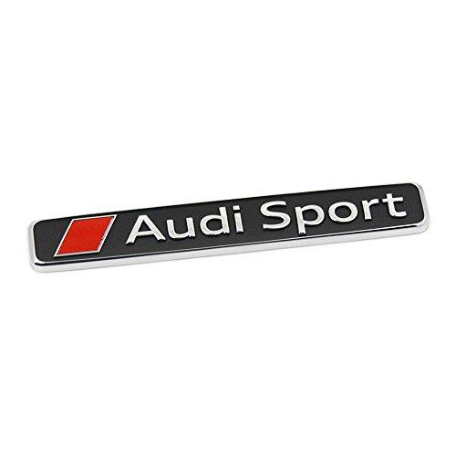 Audi 4S0853737D2ZZ Sport Schriftzug Exterieur Emblem Logo Zeichen, chrom/rot/schwarz