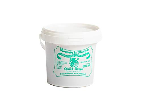 Knoblauch Senf - Monschauer Senf - Moutarde de Montjoie - 500 ml im Nachfülleimer