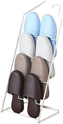 Pared pintura El Estante Plegable de pie de Cerco Zapatilla Blanca de 4 Niveles de Almacenamiento Estantes Baño de Zapatos de Metal Ranuras Taburete Cambiar Zapatos