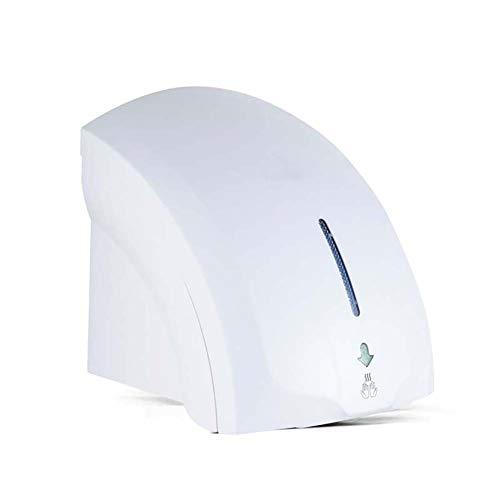 BTSSA Secador De Manos Montado En La Pared - Alta Velocidad Inducción Secador Manos Toallas Automáticas Eléctricas con Sensor Fotocélula para Todo Tipo De Lugares,Blanco