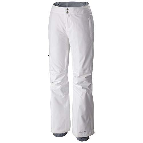 Columbia Pantalón de esquí impermeable para mujer, Veloca Vixen Pant, Poliéster, Blanco,...