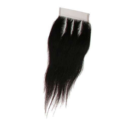 Lange Gerade hair Perücke Lace Closure Echthaarperücke Perücke Langhaarperücke Damenperücke Wig Cosplay - 8in drei Teil