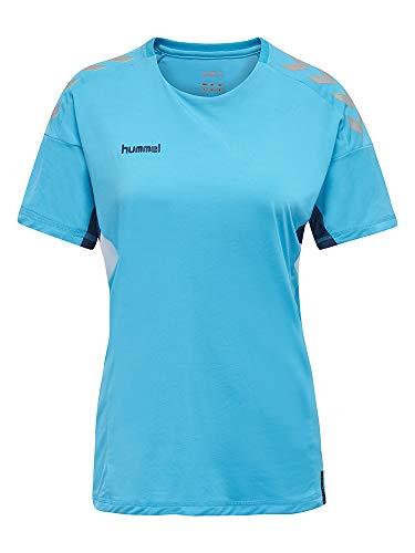 Hummel Camiseta Tech Move para Mujer S/S, Mujer, Camiseta, 200006-7905, Scuba Blue, Large