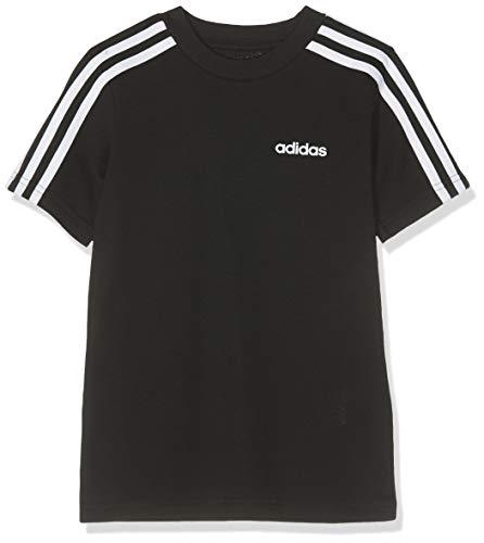 adidas Youth Boys Essentials 3 Stripes T-Shirt, T-Shirts Bambino, Black/White, 15-16A
