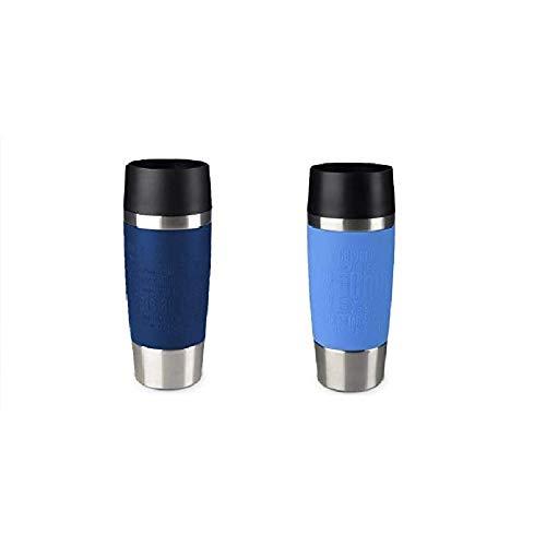 Emsa Standard-Design Travel Mugs, blau/hellblau, 2 x 360ml