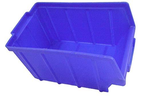 Stapelboxen 10 Stück (blau) Gr. 3 Sichtlagerboxen Stapelbehälter Lagersichtbox Sichtlagerkästen Stapelkästen Sortierbox Kunststoffboxen Made in Germany