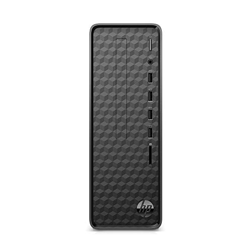 HP - S01-aF0011 Slim Desktop, AMD Athlon Silver 3050U, 4GB RAM, 256 GB SSD, Windows 10 Home (S01-aF0011, Black) Jet Black